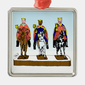 Tres Reyes Magos/ Three Wise Men Metal Ornament