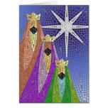 Tres reyes Mosaic Tarjeta De Felicitación