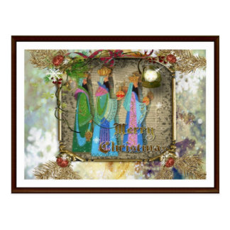 Tres reyes Of Orient Christmas Postcard Postal