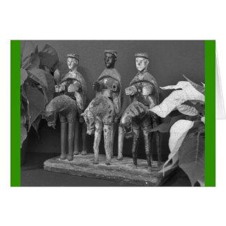 Tres reyes tarjeta de felicitación