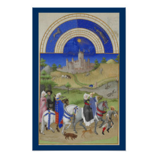 Très Riches Heures - August Poster