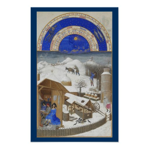 Très Riches Heures - February Poster