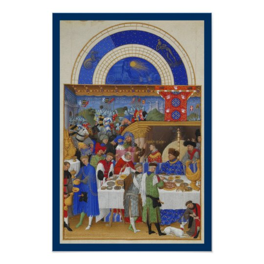 Très Riches Heures - January Poster