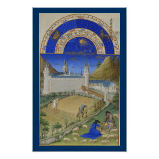 Très Riches Heures - July Poster