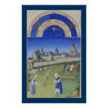 Très Riches Heures - June Poster