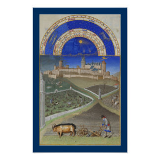 Très Riches Heures - March Poster