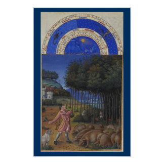 Très Riches Heures - November Poster