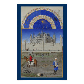 Très Riches Heures - October Poster