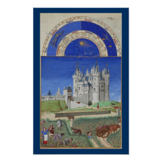 Très Riches Heures - September Poster