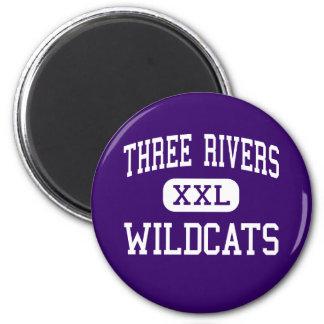 Tres ríos - gatos monteses - altos - tres ríos iman para frigorífico