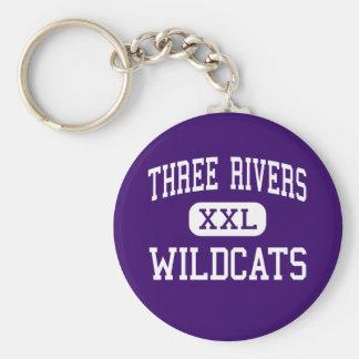 Tres ríos - gatos monteses - altos - tres ríos llavero redondo tipo pin