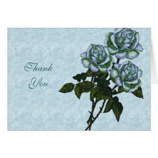 Tres rosas blancos: Arte del lápiz del color: Flor Tarjeta Pequeña