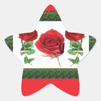 Tres rosas BONITOS Pegatina En Forma De Estrella
