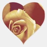 tres rosas calcomanía corazón