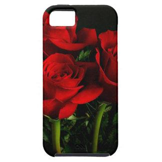 Tres rosas funda para iPhone 5 tough