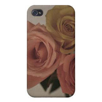tres rosas pálidos coloreados en sombras del vinta iPhone 4 fundas