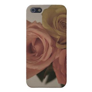 tres rosas pálidos coloreados en sombras del vinta iPhone 5 carcasas