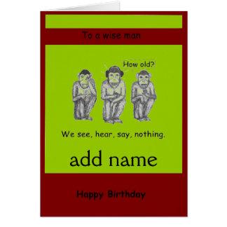 Tres sabios, moderno, Monkeys tarjetas de