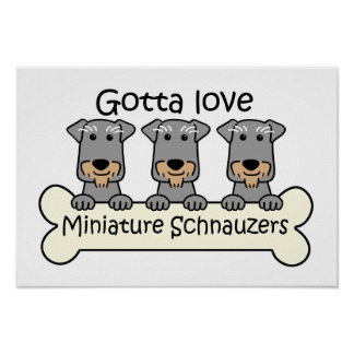 Tres Schnauzers miniatura Impresiones