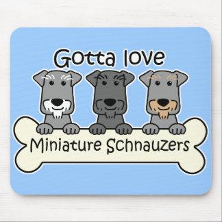 Tres Schnauzers miniatura Mouse Pad