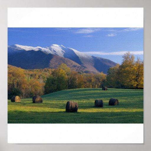 Tres Seasnons, Mt. Mansifield, Vermont Póster