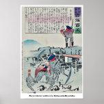 Tres soldados de la langosta por Kobayashi, Kiyoch Posters