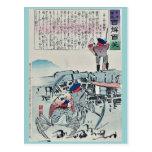 Tres soldados de la langosta por Kobayashi, Kiyoch Tarjetas Postales
