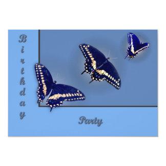 Tres Swallowtail negro Comunicados Personalizados