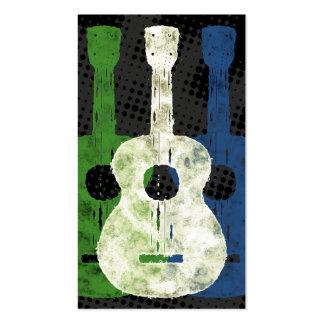 Tres tarjetas de visita de las guitarras