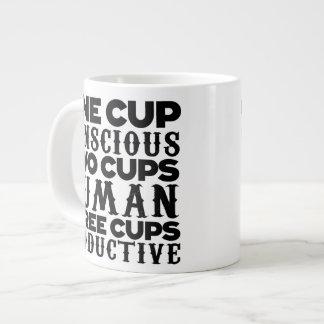 Tres tazas de la taza de la especialidad tazas jumbo