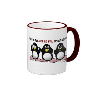 Tres tazas sabias de los pingüinos