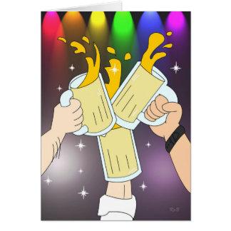 Tres tazas Tarjeta gay del fiesta