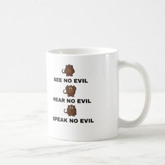 Tres tazas/tazas sabias de los monos taza de café