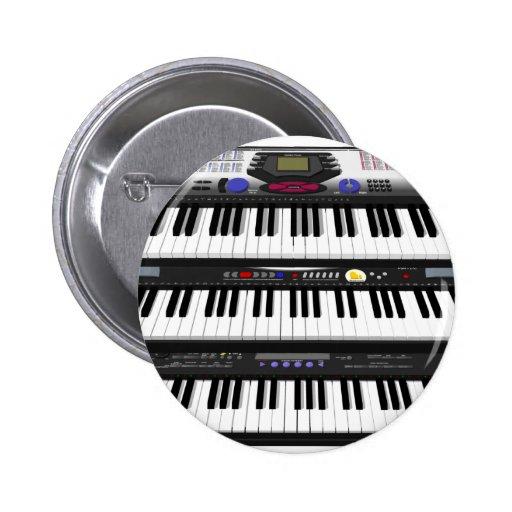 Tres teclados modernos: Sintetizadores: Pins
