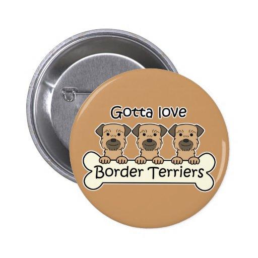Tres terrieres de frontera pin