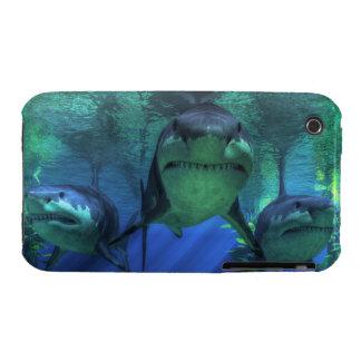 Tres tiburones iPhone 3 Case-Mate protector