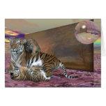 Tres tigres tarjeta pequeña