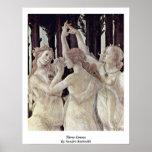 Tres tolerancias de Sandro Botticelli Poster