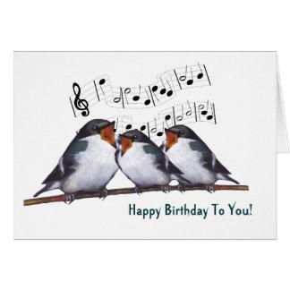Tres tragos que cantan feliz cumpleaños Pastel de Felicitacion
