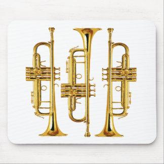 Tres trompetas alfombrillas de ratón