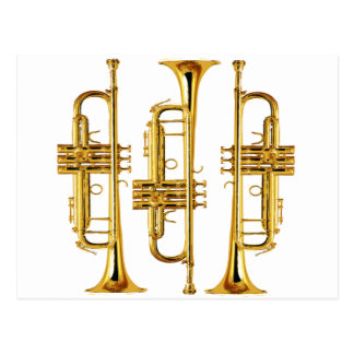 Tres trompetas tarjeta postal