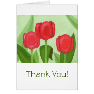 ¡Tres tulipanes le agradecen Notecard! Tarjeta Pequeña