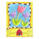 Tres tulipanes postales