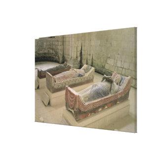 Tres tumbas de Plantagenet Impresion De Lienzo