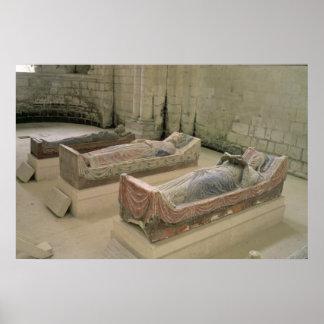 Tres tumbas de Plantagenet Impresiones