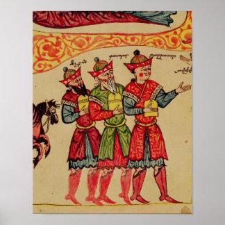 Tres unos de los reyes magos, detalle de la nativi impresiones