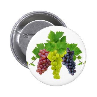 Tres uvas pin redondo 5 cm