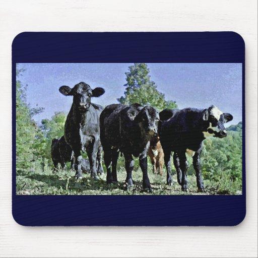 Tres vacas Mousepad Tapete De Ratones
