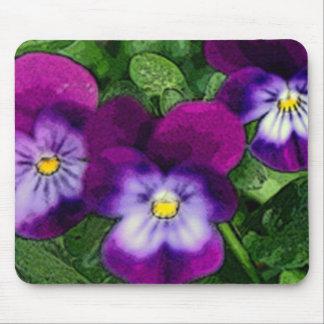 Tres violetas Mousepad