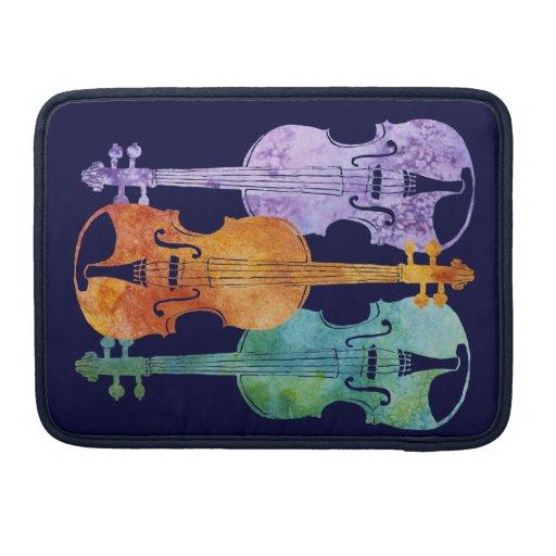 Tres violines coloridos funda macbook pro